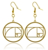 Golden Ratio 18K Gold Plated Earrings