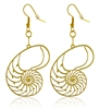 Nautilus 18K Gold Plated Earrings