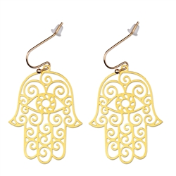 Hamsa 18kt Gold Plated Earrings