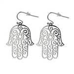 Hamsa Silver Plated Earrings