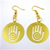 ER-13 Reiki Earrings Gold Plated