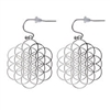 ER-21-S Seed Of Life/ Flower of Life Earrings 18K Gold Plated