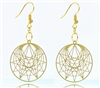 Enneagram 18K Gold Plated Earrings