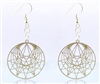 Enneagram Silver Plated Earrings
