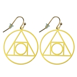 Philosopher's Stone Gold Plated 30mm Earrings
