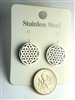 ER-SST14-FOL Stainless Steel Cubic Zirconia Studded  Flower of Life Earrings