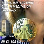 ER-YA-105-SM 72mm Girl in Meditation Earrings