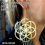 ER-YA-109-SM 72mm Seed of Life Earrings