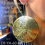 ER-YA-60-SM 72mm Celtic Tree of Life Earrings