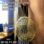 ER-YA-71-SM 72mm Star of David Earrings