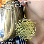 ER-YA-80-SM 72mm Hexagon Star Earrings