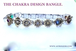 Chakra Design Frequency Bangle