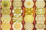 18 karat gold plated multiple fridge magnets