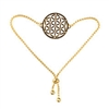 FOLB-G Adjustable Gold Plated Brass Flower of Life Bracelet