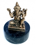 "Ganesh - 2.75"" tall - 24KT Gold-Plated Figurine (GF-01)"