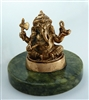 "Ganesh - 3"" tall - 24KT Gold-Plated Figurine (GF-16)"