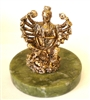 "Quan Yin (Thousand-Armed) - 3"" tall - 24KT Gold-Plated Figurine (GF-20)"