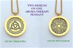 Celtic Triquetra/ Celtic Pentagram Aroma Therapy Pendant