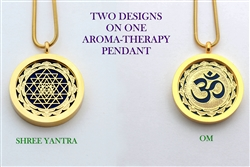 Shree Yantra/OM Aroma Therapy Double Sided Pendant