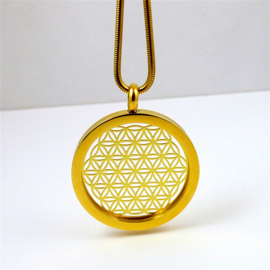 Gold plated stainless steel flower of life pendant with chain ggfolp 01 gold plated stainless steel flower of life pendant with chain aloadofball Choice Image