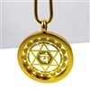 GGHCP-06 Gold Plated Stainless Steel Heart Chakra Pendant with Chain