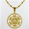 metatrons cube pendant gold plated stainless steel