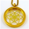 GGSOLP-03 Gold Plated Stainless Steel Seed Of Life Pendant with Chain