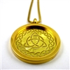 GGTRQP-31 Gold Plated Stainless Steel Celtic Triquetra Pendant with Chain