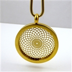 GGTVP-04 Gold Plated Stainless Steel Torus Vortex Pendant with Chain