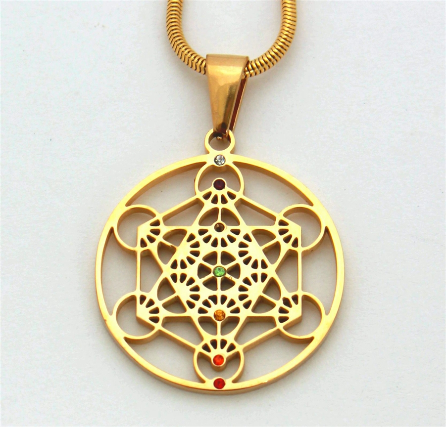 Metatron pendant gold plated stainless steel aloadofball Gallery