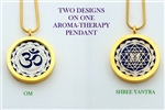 GS-YA-OM Shree Yantra/OM Aroma Therapy Double Sided Pendant