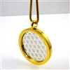 GSFOLP-11 Gold Plated Stainless Steel Flower Of Life Pendant with Chain