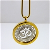 "GSOMP-14 Gold Plated Stainless Steel ""OM"" Pendant with Chain"