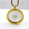 GSTVP-13 Gold Plated Stainless Steel Torus Vortex Pendant with Chain