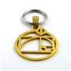 The Golden Ratio Gold Plated Stainless Steel Keyring