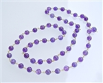 MA-06 GOLD PLATED WIRE WRAP AMETHYST MALA