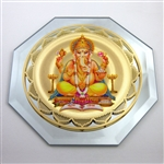 ganesh mirror with 18k gold plating and full color printing