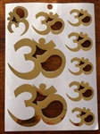 Gold OM Multi-Sized Stickers, one sheet, MS-14
