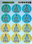 MS-7 Colorful Chakra Multi-Stickers