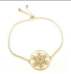 MetB-G Adjustable Gold Plated Adjustable Metatron Bracelet
