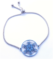 MetB-S Adjustable Silver Metatron Bracelet