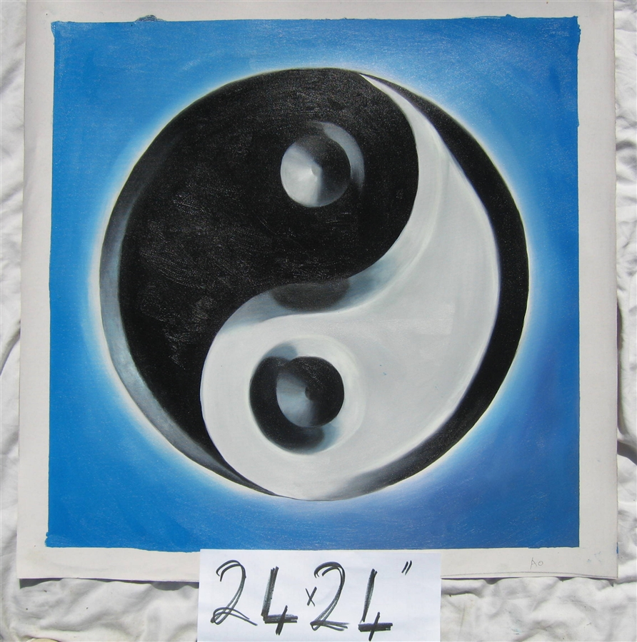 Relatively Yin Yang Oil Painting OB14