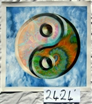 "Yin Yang - 24"" x 24"" Original Oil Painting"