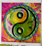 "OP-6  Yin Yang - 24"" x 24"" Original Oil Painting"