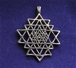 Yantra Sterling Silver Pendant in Sterling Silver
