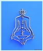 PE-05 YOGA CHAKRA MAN PENDANT in STERLING SILVER