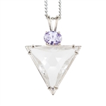 QUP-TRI Triangle Pure Quartz Pendant Design