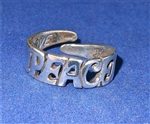 """PEACE"" RING in STERLING SILVER,     R-01"