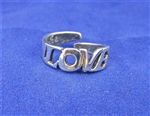 """LOVE"" RING in STERLING SILVER,   R-03"