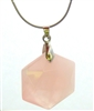 RQ-HP-01 Rose Quartz Hexagon Pendant